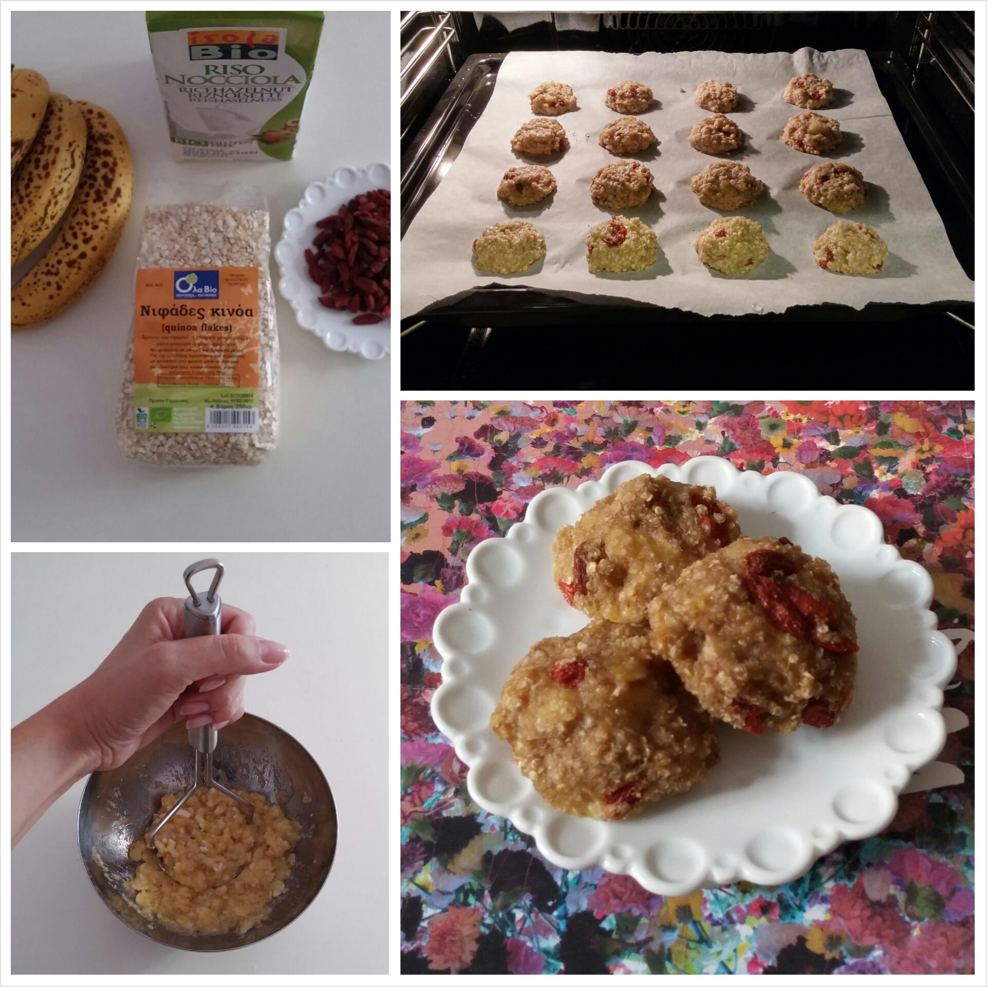 Gluten free quinoa soft cookies